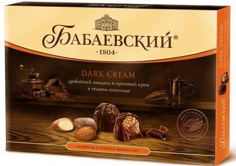 Набор конфет Бабаевский Dark Cream Дробленый миндаль и ореховый крем, 200 г