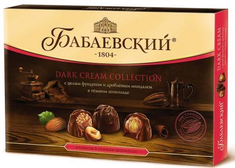 Набор конфет Бабаевский Dark Cream Collection Целый фундук и дробленый миндаль, 200 г