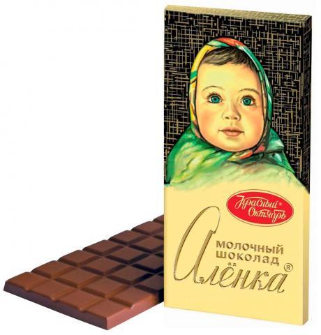 Шоколад молочный Аленка, Красный Октябрь, 200 г
