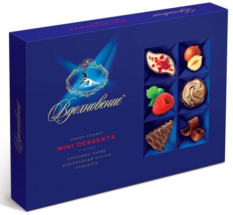 Конфеты в коробке Вдохновение Mini Desserts, 165 гр.