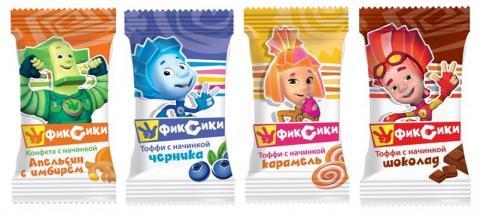 Мягкие жевательные конфеты «Фиксики»