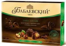 Конфеты в коробке Dark Cream, Целый фундук и ореховый крем, 200 г