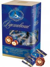 Конфеты в коробке Вдохновение с шоколадно-ореховым кремом и целым фундуком, Красный Октябрь, 240 г