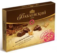Конфеты в коробке Бабаевские Uganda, темный шоколад с кешью 170 г
